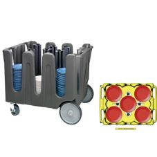 Vollrath® ADC-4 Traex® 4 Post Adjustable Dish Caddy