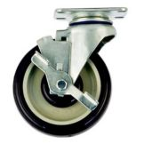 "New Age Industrial C455 5"" Diameter Swivel Plate Caster w/ Brake"