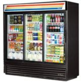 True GDM-69-LD Black Glass Door 69 Cu. Ft. Refrigerator Merchandiser