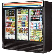 True GDM-69-LD Black Glass Door 69 Cu. Ft. Refrigerator Merchandiser