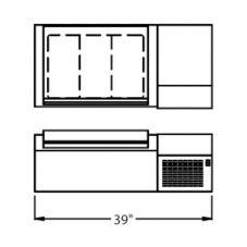 "Randell® CR9039 Refrigerated Countertop 39"" Condiment Rail"