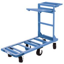 Win-Holt 550HD/SX Angled Iron Steel Utility Cart w/ Retractable Shelf