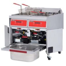Vulcan Hart S/S Electric Two Fryers with KleenScreen®