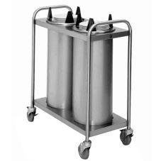 "APW Wyott TL2-8 Trendline Lowerator Mobile 8-1/8"" Dish Dispenser"