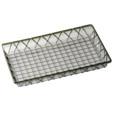 Dover European Metalworks Nickel / Chrome Wire French Pastry Tray