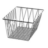 Dover European Metalwork D-320S Steel / Pewter Look Bagel Basket