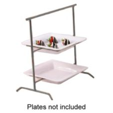 Dover Metals D-565AS Steel / Pewter Look 2-Tier Ravello Stand