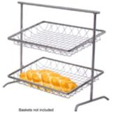 Dover Metals D-810AST Steel / Pewter Look 2-Tier Tilted Pane Stand