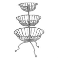 Dover European Metalworks Nickel Chrome Plated 3-Tier Marche Stand