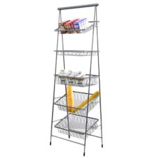 Dover Metals D-810CST Pewter Look 5-Tier Tilted / Flat Pane Stand