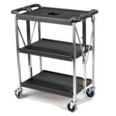 Carlisle® SBC152103 Fold 'N Go® Black Cart