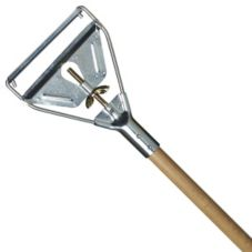 "Carlisle® 4034000 63"" Wooden Mop Handle with Metal Head"