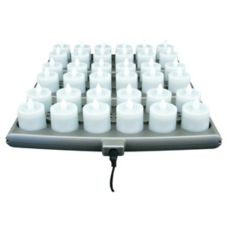 Hollowick SCRP36-WW Warm White Platinum 36 Pack Candle System - Kit