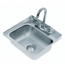 Advance Tabco DI-1-30 1-Comp. Side Splash 14 x 10 x 5 Drop-In Sink