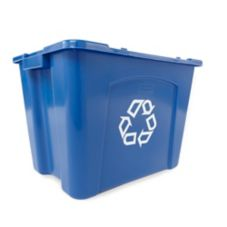Rubbermaid Blue 14 Gal Recycling Box w/ Universal Recycling Symbol
