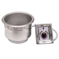 APW Wyott SM-50EZ-7D Elec. 7 Qt Round Drop-In Food Warmer w/ E-Z Lock