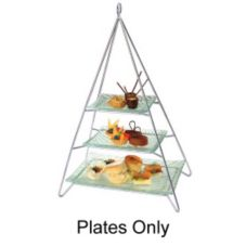 Steelite Worthy Noble & Kent 3-Glass Plates f/ Afternoon Tea Stand