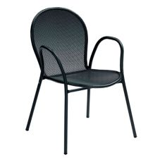 Emu Americas 116-24 BLACK Ronda Steel Mesh Stackable Arm Chair
