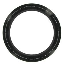 Twisted Crust Quality Ring Press, Black w/ White Text, 14""
