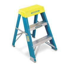 Werner Heavy Duty Step Stool, Two Steps, 250 lb Capacity