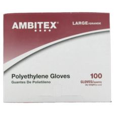Tradex P6505-LG Ambitex Latex-Free Disposable Poly Gloves - 10000 / CS