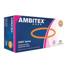 Tradex L5201-MD Ambitex® Med Powder-Free Latex Gloves - 100 / BX
