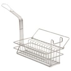 "Pronto 1250 6-1/4"" x 12-1/2"" x 3-3/4"" Cutlet Basket"