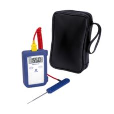 Comark KM28/P5 Economy Type-K Thermometer With Probe and Carrying Case