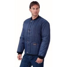 Refrigiwear 0525-XLG Blue Cooler Jacket With Hand Warmer Pockets