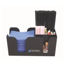 San Jamar® B400BK Black Bar Caddy