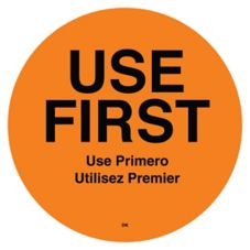 "DayMark 110358 DuraMark™ Round 2"" Use First Label - 500 / RL"