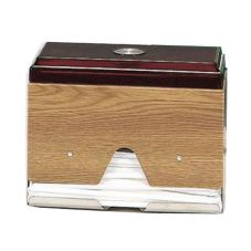 Traex 3815-29 Straw Boss Light Oak 1-Sided Wrapped Straw Dispenser
