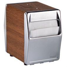 Vollrath 6509-12 Traex Walnut Base Napkin Dispenser