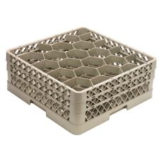 Vollrath TR11GG Traex Beige 20 Compartment Glass Rack with 2 Extenders