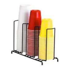 Dispense-Rite 3-Section Wire Rack Cup & Lid Organizer