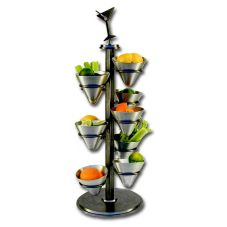 "Dine Art 4040-S Swivel Base Metal 10"" x 25"" Classic Tower Display"