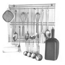 SPG International 650 Stainless Steel Wall Hung Utensils Rack
