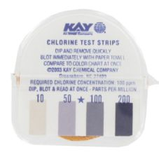 Kay Chemical F3151401 Continuous Roll Chlorine Test Strips - 1 / RL