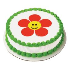 Lucks™ Edible Image® Happy Face Daisy