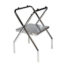 "Central Specialties 1054S-C Chrome Steel 31"" Folding Tray Stand"