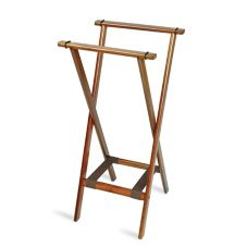 Central Specialties Deluxe Dark Walnut Hardwood Extra Tall Tray Stand