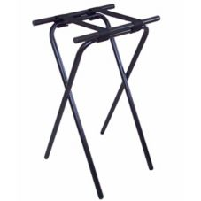 "Central Specialties 1053BL 31"" H Deluxe Black Tubular Steel Tray Stand"