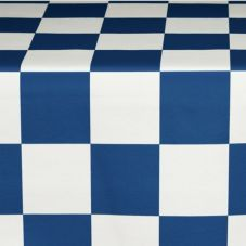 "Marko 57414664TM195 Fashion 46"" x 64"" Navy / White Booth Tablecloth"