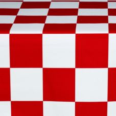 Marko 5741154L193 Fashion Series Red / White Checkered Flag Tablecloth
