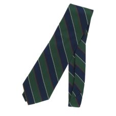 Global Neckwear Green & Blue Striped Neck Tie