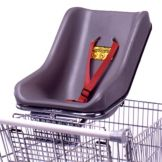 Grey Shopping Cart Infant Seat w/ Safety Strap