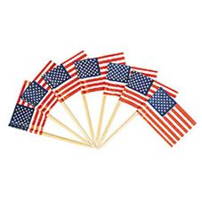 Goldmax 35111014 American Flag Toothpicks - 100 / CS
