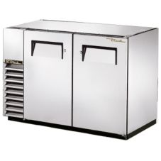 True® S/S 2-Solid Swing Door Back Bar Cooler for 82 6-Packs