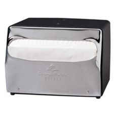 Georgia-Pacific 51602 MorNap® Black 2-Sided Napkin Dispenser