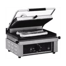 Panini 3kW Grooved Surface Single Panini Grill, 208 / 240V, 17x17x22